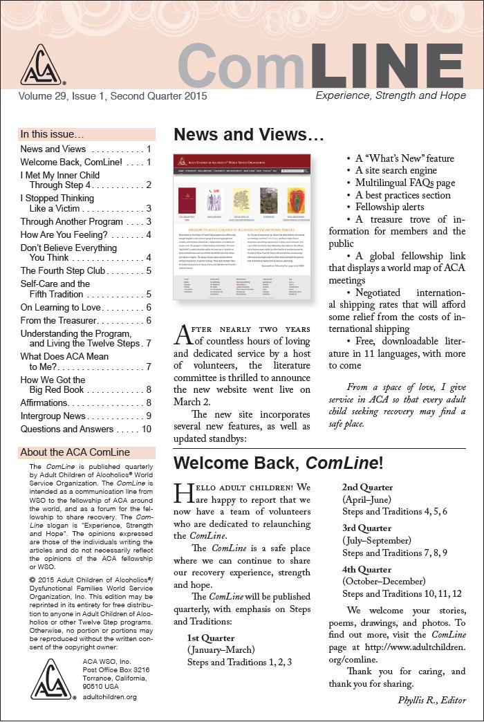 ComLine newsletter cover